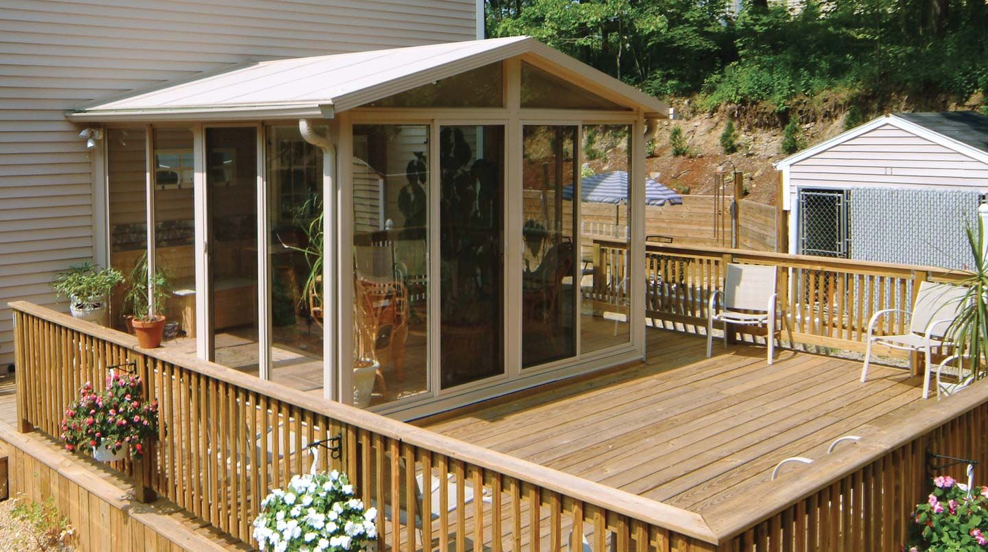 Pictures of Sunroom Kits Sunroom kits, Building a deck