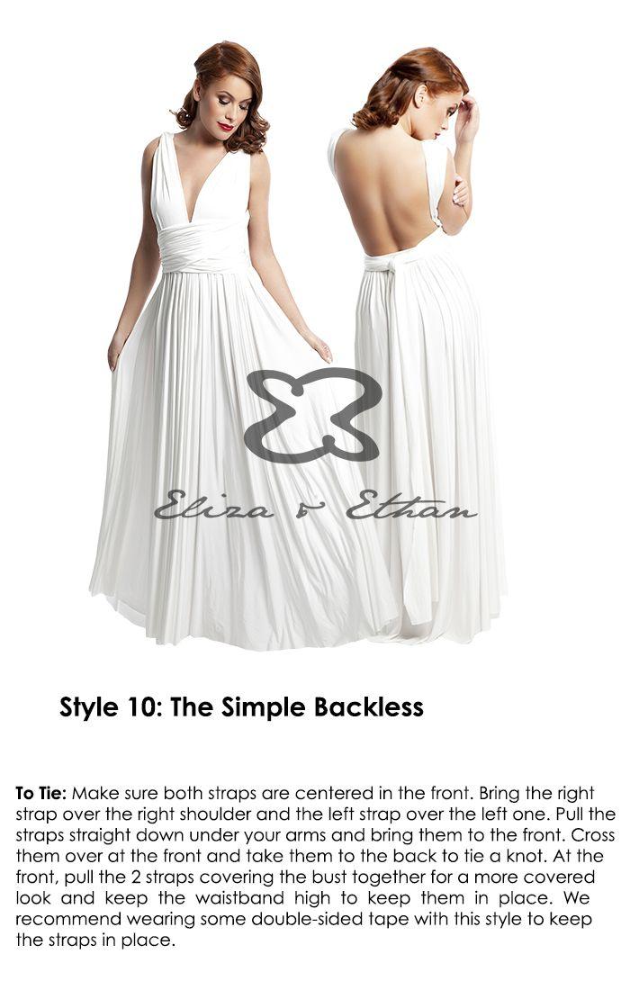 How to Wrap | Eliza & Ethan | convertible dresses | Pinterest