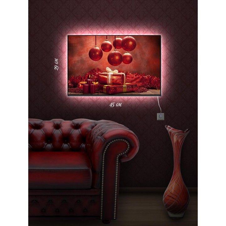 Картина с подсветкой 29х45 Праздничная композиция (с ...