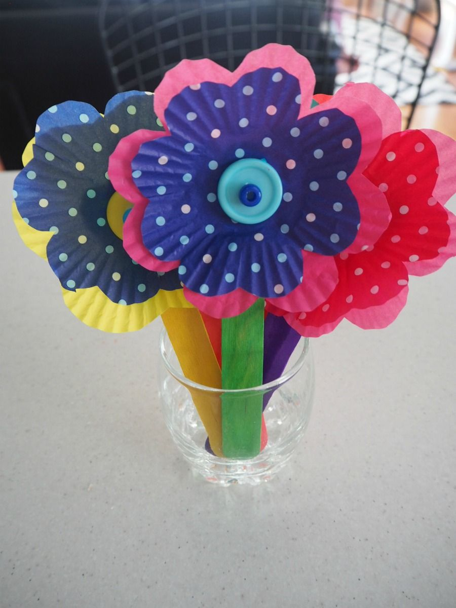 Easy Cupcake Case Flowers Craft : flower pot cupcake cases - startupinsights.org