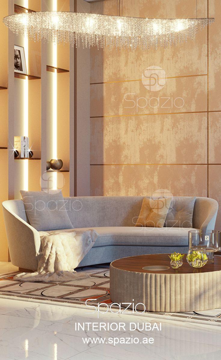 Seating Area In Luxury Dubai House. Interior Design Was Created By Spazio Interior  Decoration LLC