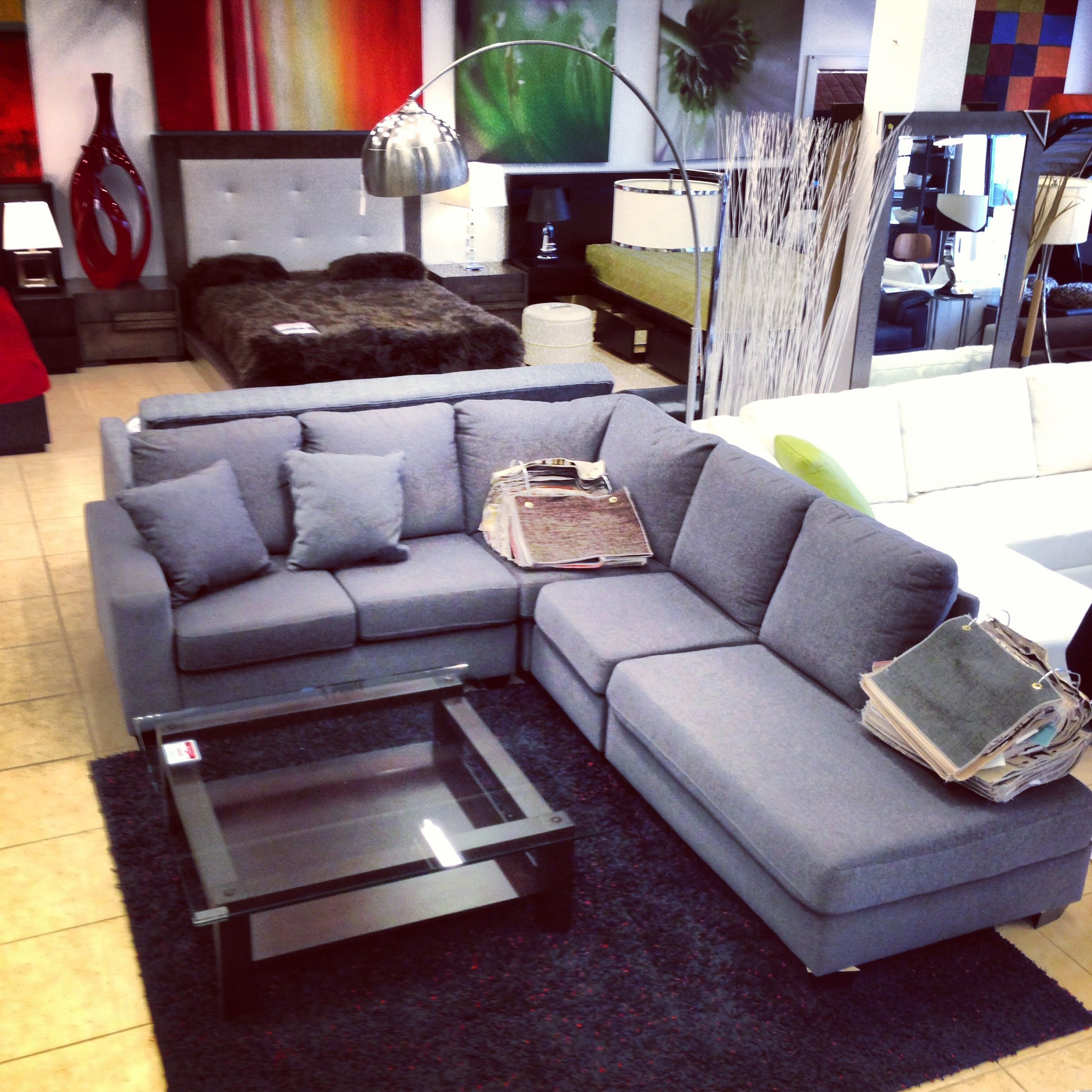 Fabric #sectional #sofa, #coffee #table And #bed All Made