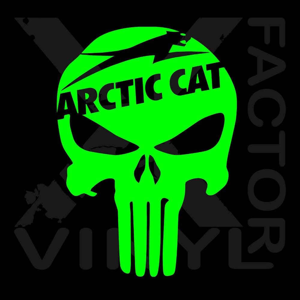 Snowmobile Polaris Punisher Skull Decal Outdoors Vinyl Decal for ATV Windows