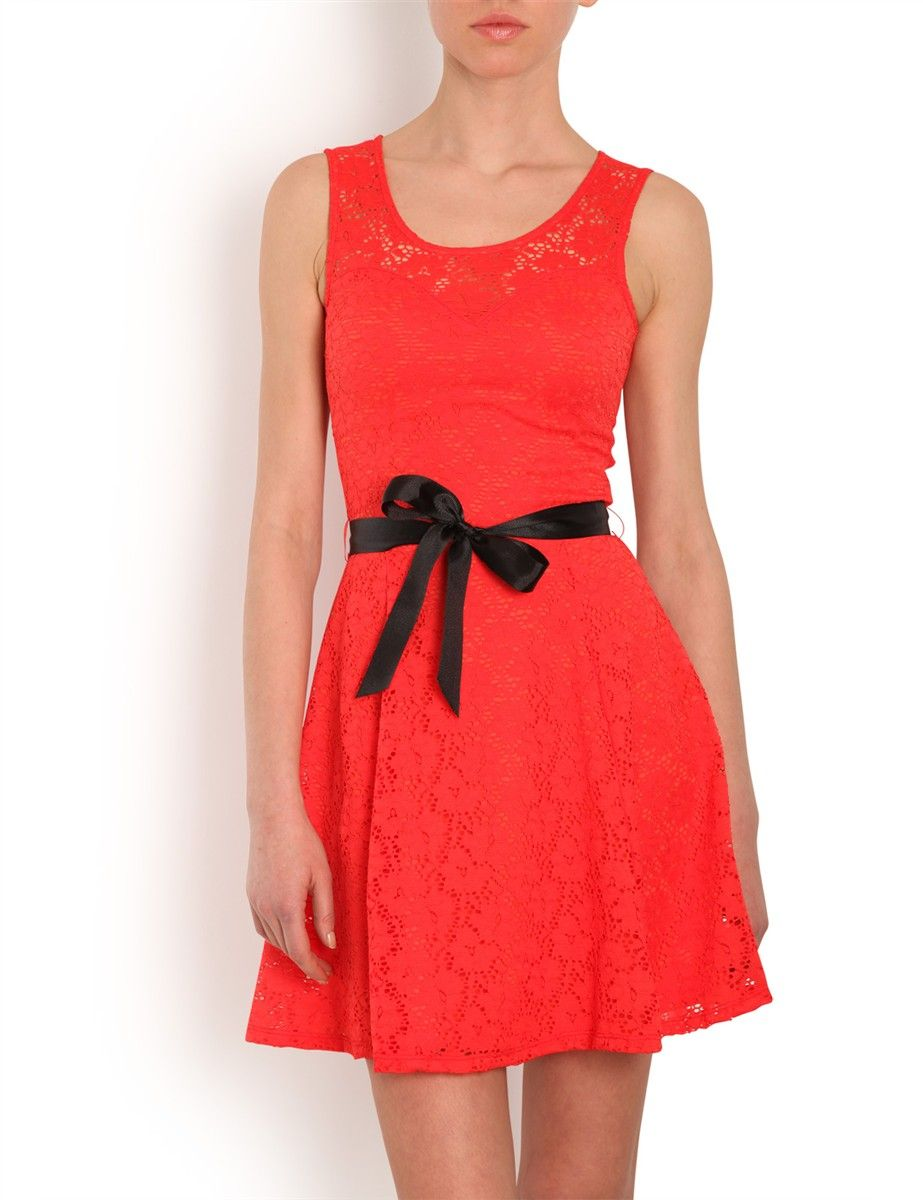 Robe orange et noire morgan
