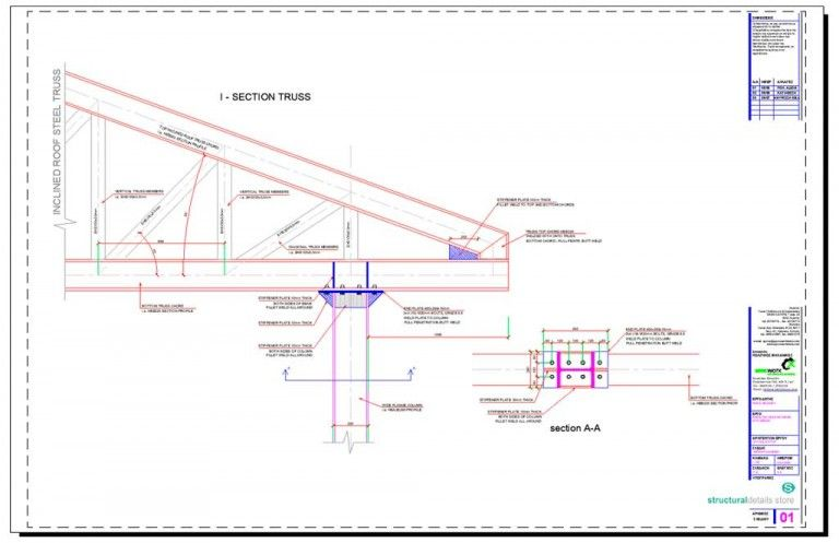 Steel Trusses Complete Set Of Details In 2020 Steel Trusses Steel Roofing Roof Truss Design
