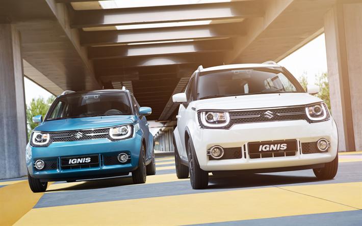 Herunterladen Hintergrundbild Suzuki Ignis 4k Strasse 2018 Autos