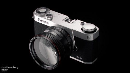 concept rendering of a Canon mirrorless camera - by david riesenberg