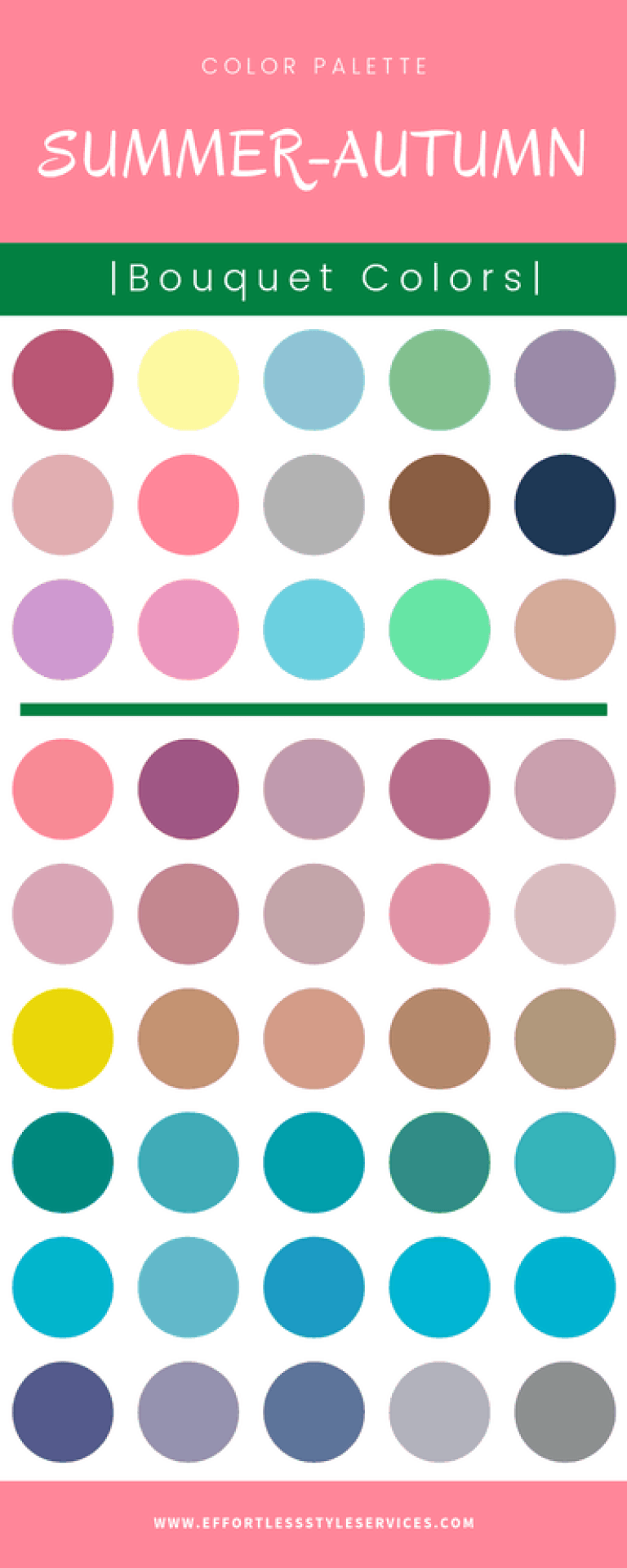 Summer ~ Seasonal Color ~ Effortless Style Services #autumncolorpalette