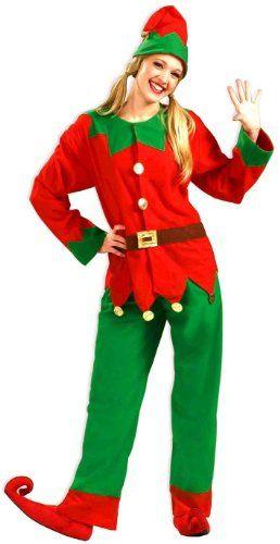 Forum Adult Santa Elf Christmas Mens Womens Costume