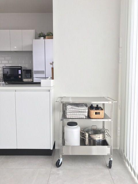 無印良品のキッチンワゴンで便利な暮らし キッチン キッチンワゴン