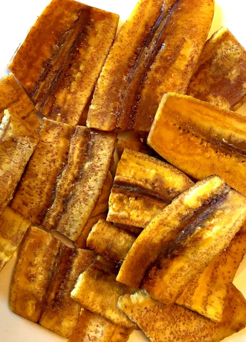 Baked Cuban Plantain Chips Recipe Healthy And Crispy Recipe Plantain Recipes Plantain Chips How To Cook Plantains