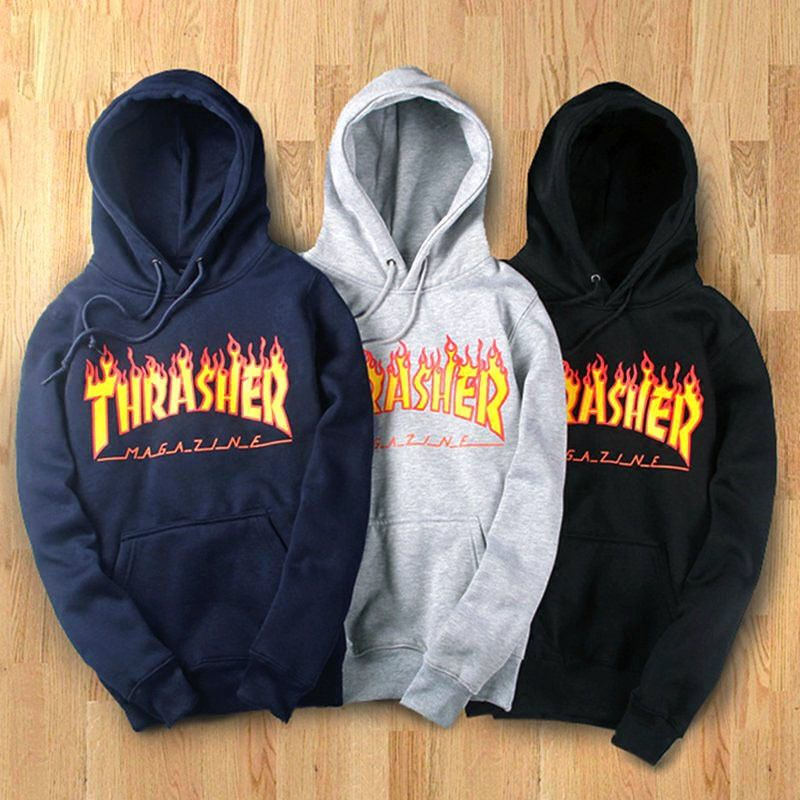 4c198969fa58 Hot Fashion Autumn Winter Women Men Hoodie Sweater Hip-Hop Thrasher ...