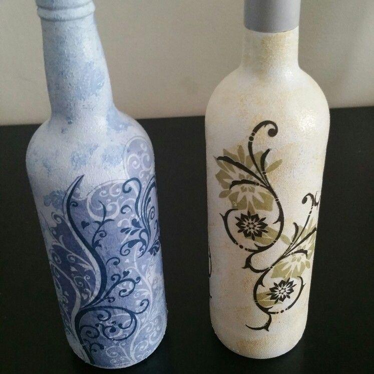 As minhas garrafas recicladas