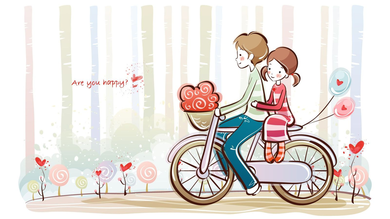 cute couple cartoon | валентинки | pinterest