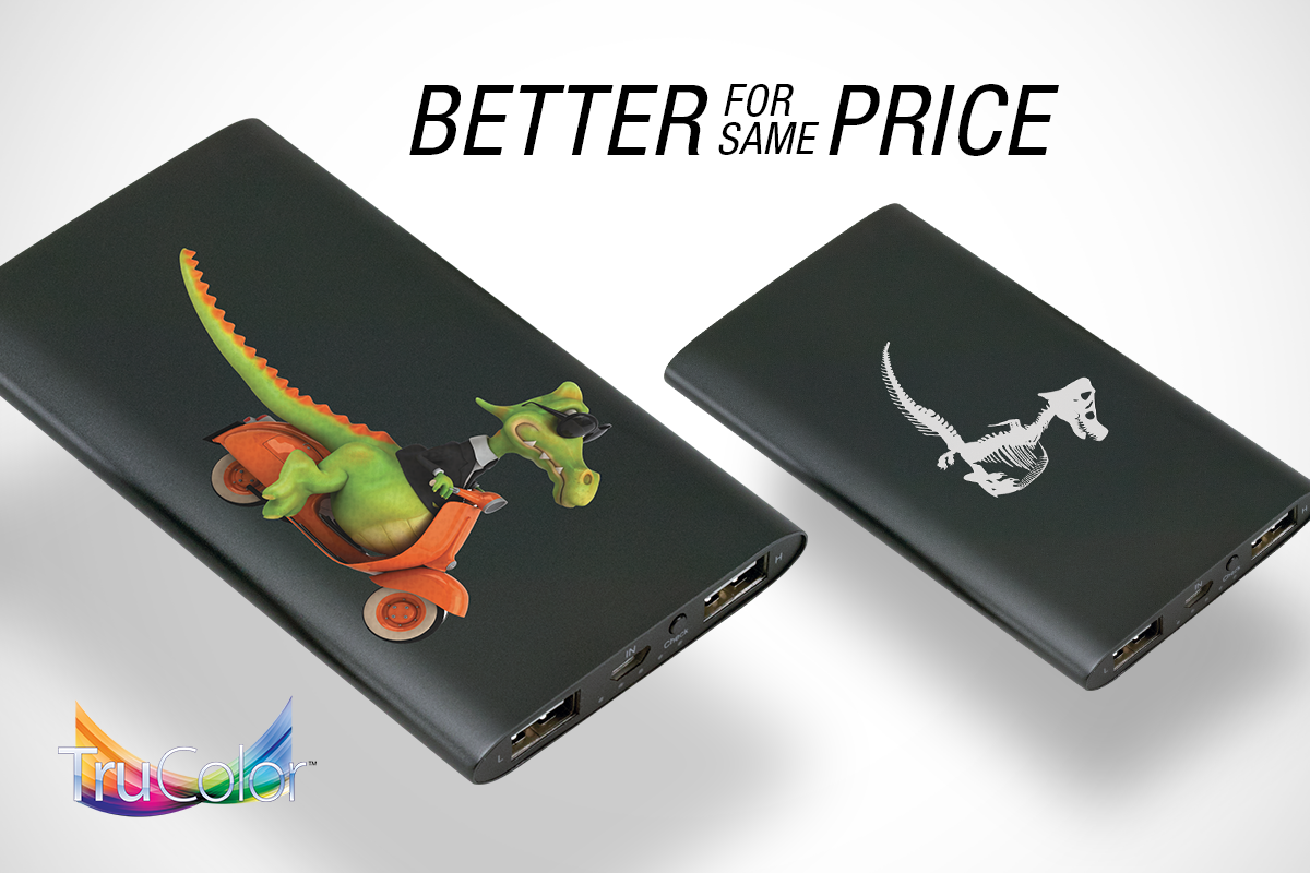 Full color is a better imprint for the same price as a one color. #TruColor