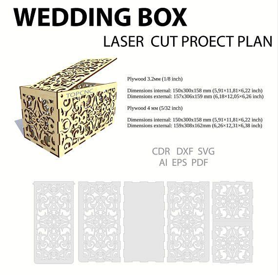 Wedding Card Box Drawing Money Casket Laser Cut Exposiciones Cajas Boda De