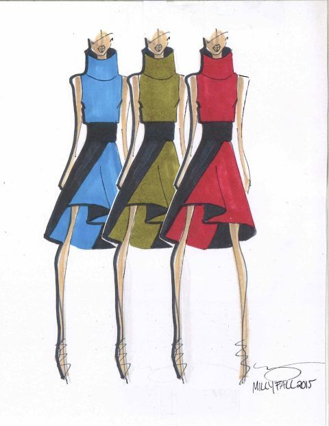 Milly plus 32 other designer sketches from NYFW fall/winter 2015.