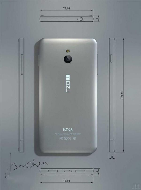 Meizu MX3 vuelve a escena y enseña por primera vez su aspecto exterior