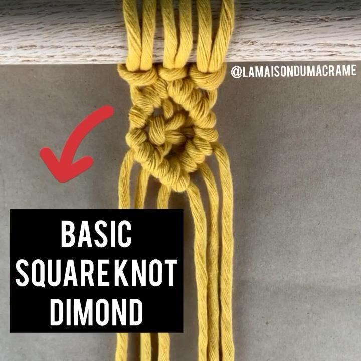 Macrame Basic Square Knot dimond