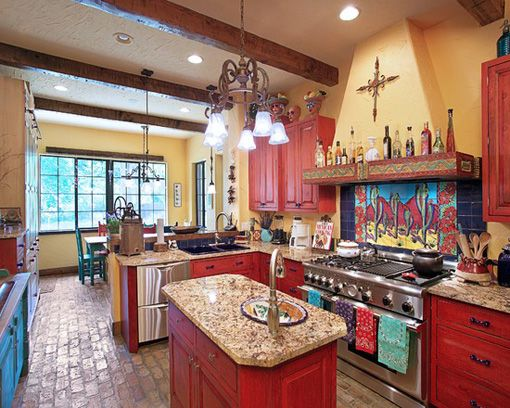 Kitchen Design Ideas In Rustic Style Rustic Mexican Kitchen Design Beauteous Southwest Kitchen Design