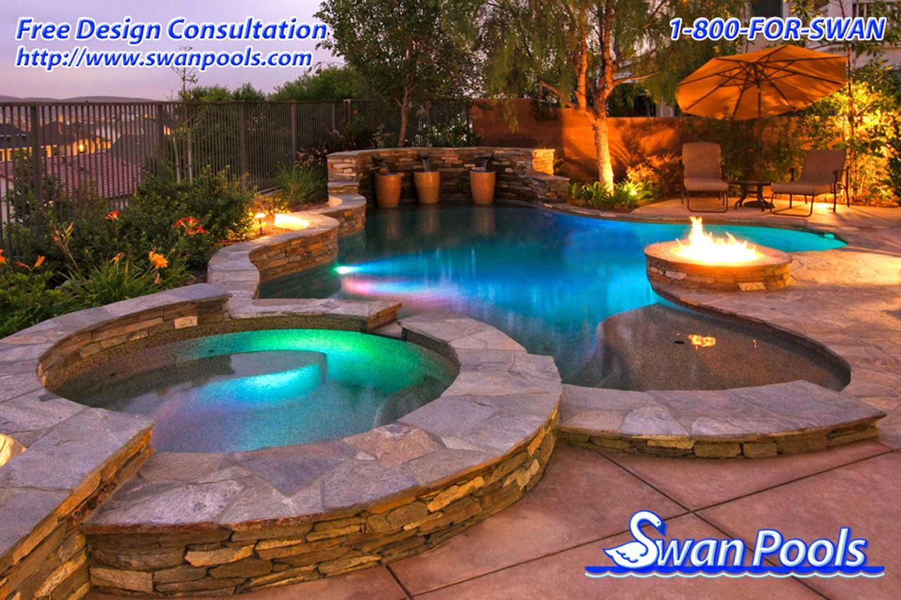 Swan Pools Custom Design A Glowing Evening Http