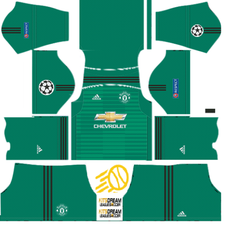 Manchester United Dream League Soccer Kits Camiseta Manchester United Uniformes Soccer Futbol Vector