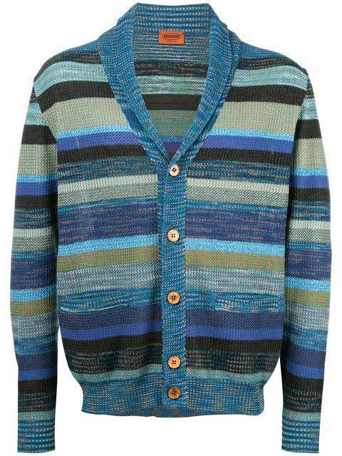 89ef13b4fe64de MISSONI striped V-neck cardigan.  missoni  cloth  条纹v领开衫 ...
