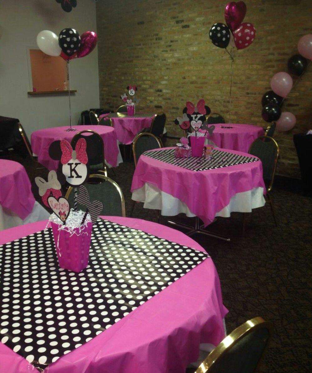 Minnie Mouse First Birthday Party Via Little Wish Parties: Mickey Mouse Birthday Party Table Setting