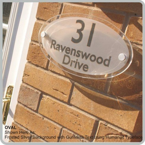 Contemporary Oval House Sign