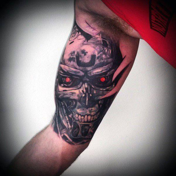 60 Terminator Tattoo Designs Für Männer Manly Mechanische Tinte