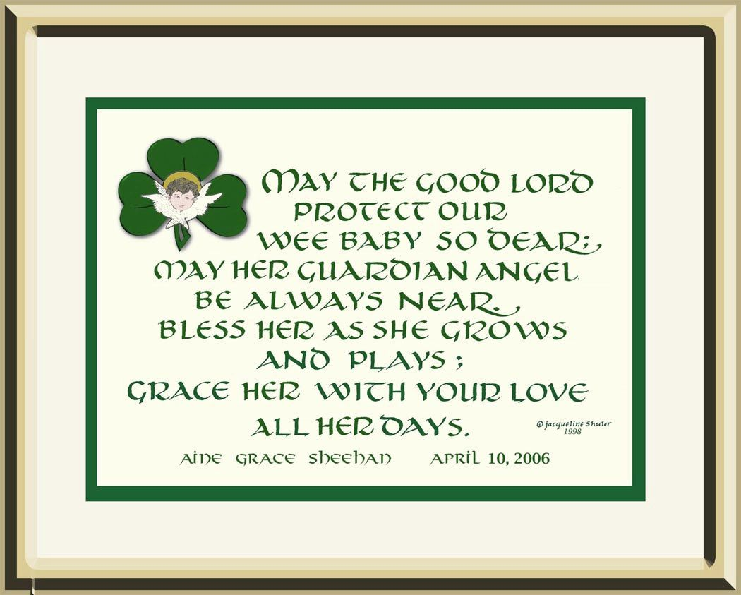 New Tin Embossed Hanging Shamrock Bless Our Irish Home