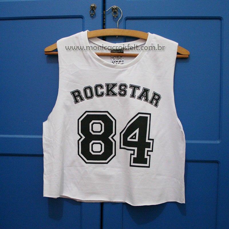 e573991098 Cropped Branco Swag Estampa de Número Colegial Americano  swag  moda Blusa  Swag Feminina