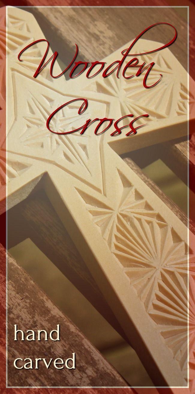 Hand Carved Wood Cross, Baptism Gift, Christian Wood Wall Art, Wood ...