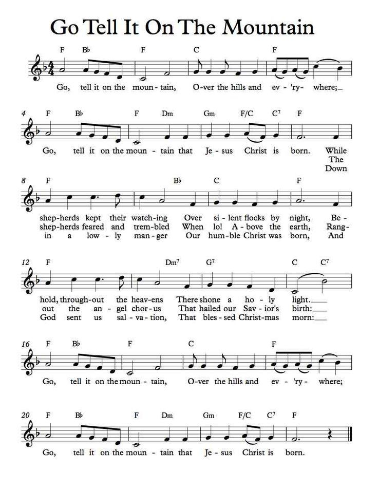 Violin free violin sheet music pop : Free Sheet Music - Free Lead Sheet - Go Tell It On The Mountain ...