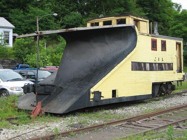 Unusual Snow Plow Railroad Car by bob194156, via Flickr. Wow weird!