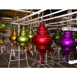 fiberglass finial made of fiberglass and painted - Fiberglass Christmas Decorations