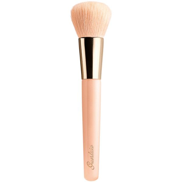 Guerlain Lingerie de Peau Natural Perfection Foundation Brush (€44) ❤ liked on Polyvore featuring beauty products, makeup, makeup tools, makeup brushes, beauty, fillers, brushes, foundation brush, foundation makeup brush and guerlain