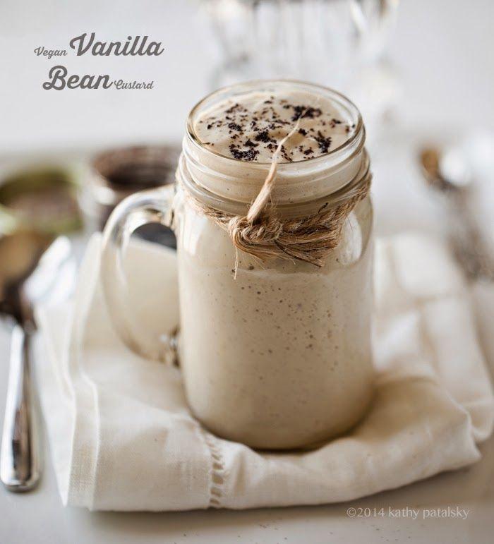 Fácil vegano Vanilla Bean natillas.