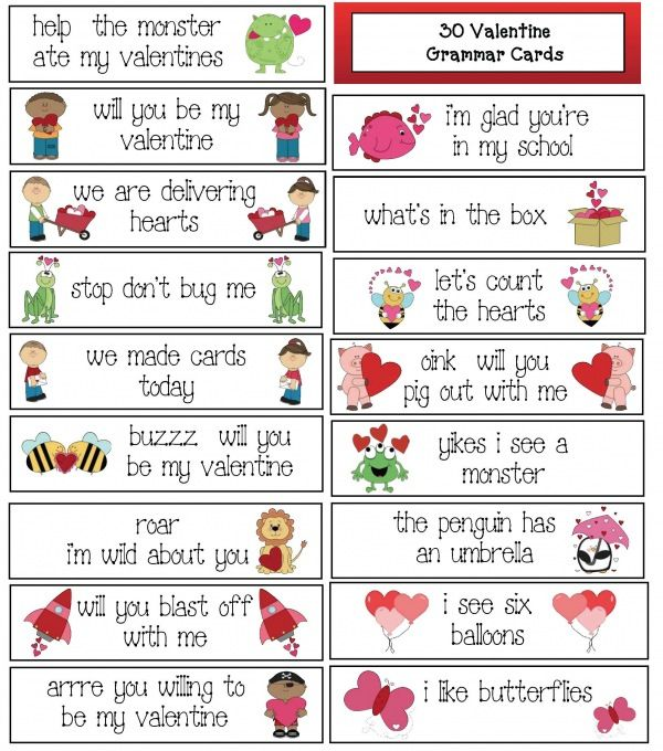 punctuation activities 30 free thirty valentine grammar cards punctuation activities. Black Bedroom Furniture Sets. Home Design Ideas