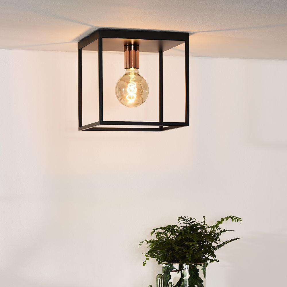Deckenleuchte Arthur In Schwarz E27 Lucide 08124 01 30 Lampendesign Design Lampen Deckenlampe Kuche