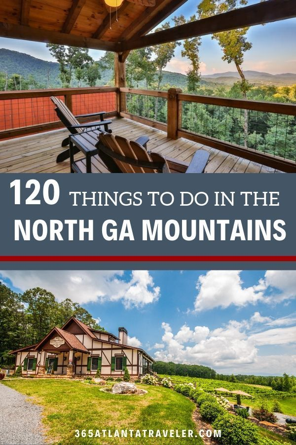 120+ Amazing Ways to Have Fun in the North Georgia Mountains -- The North Georgia Mountains are filled with adventure for everyone. You can be an adventure-lover or hiker, of course. But there are also wonderful treasures for art-admirers and foodies in the mountains in Georgia. The North Georgia mountains offer camping, glamping and luxurious retreats, as well. Tips and ideas for hiking, things to do with kids, road trips, and more! #NorthGeorgia #Georgia #familytravel #Georgiamountains