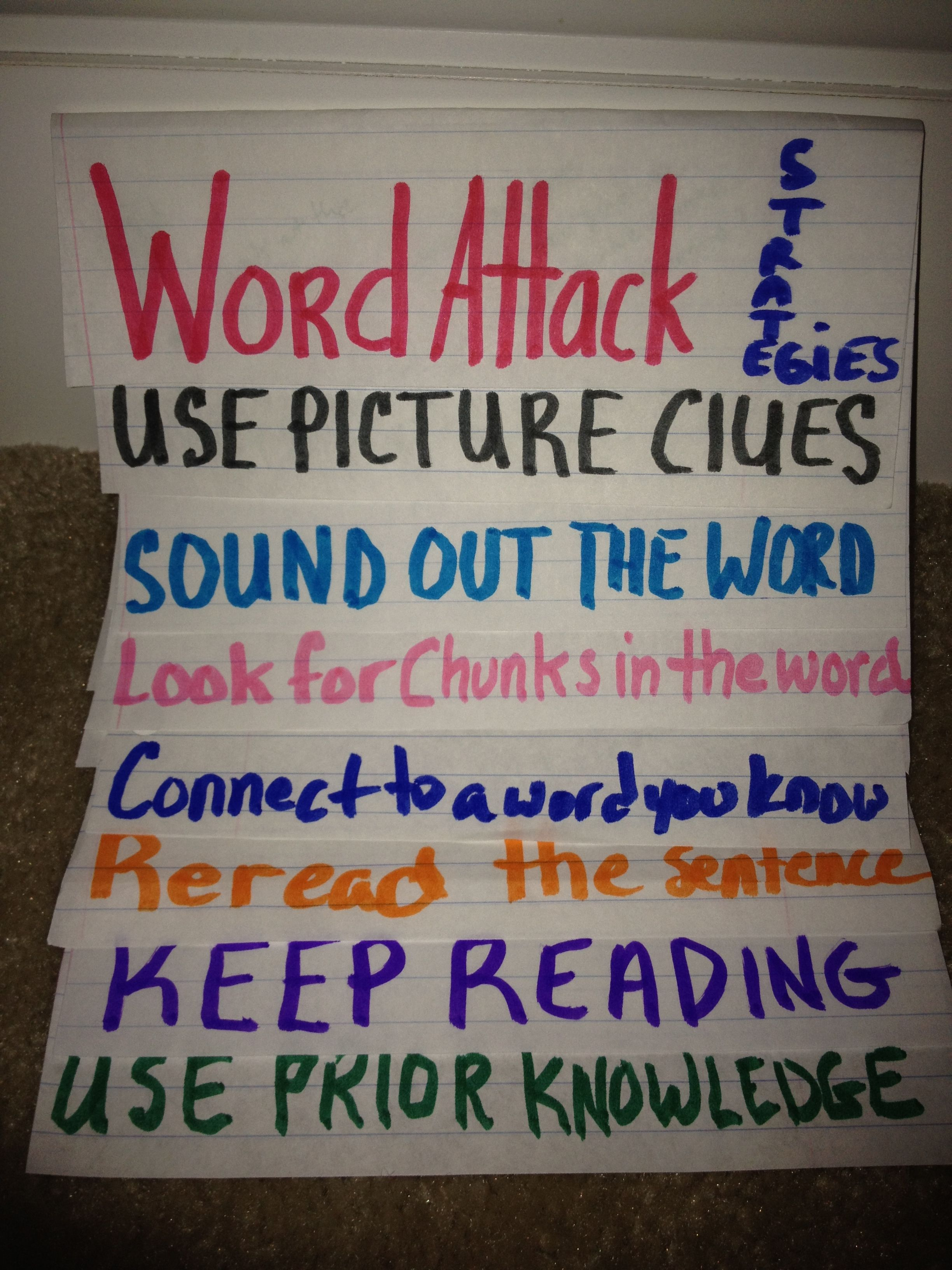 Word Strategy Foldable For Students To Take Steps