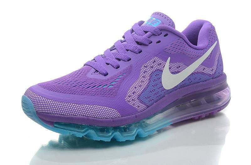 Nike AIR MAX 2014 Womens Running Shoes Purplewhite