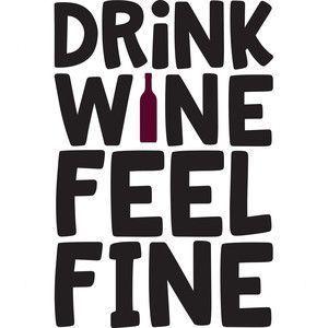 Silhouette Design Store: Drink Wine Feel Fine