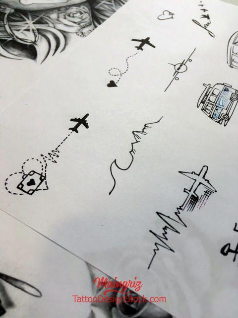 20 minimalist travel tattoo idea - tattoo design download  #8