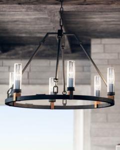 olf3213 6af 6 light chandelier antique forged iron lighting