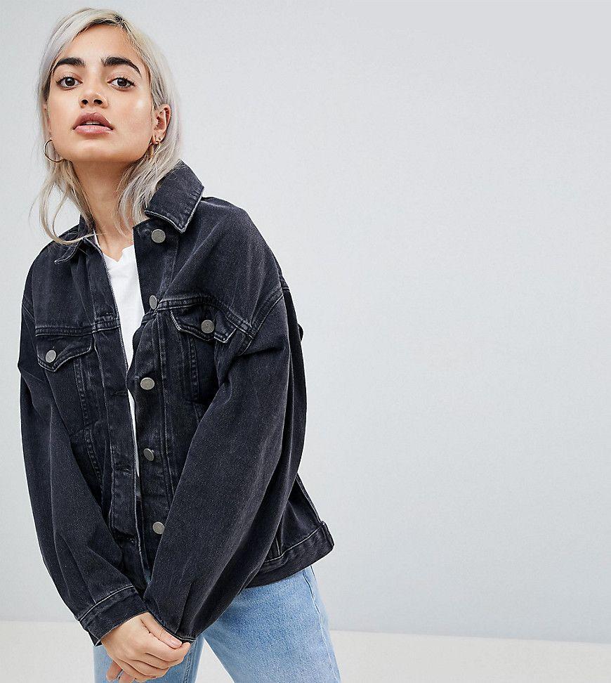 Jeansjacke schwarz damen asos