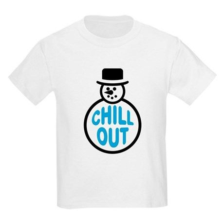 433a1d55413a Funny Kid's t-shirt with cute snowman says: Chill Out. Great for Christmas!