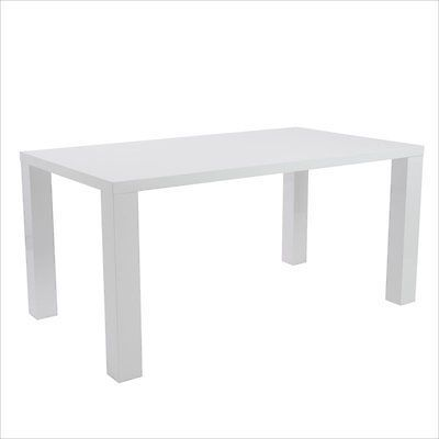 """Eurostyle Abby 63"""" Rectangular Dining Table Dining Furniture in White Lacquer"""