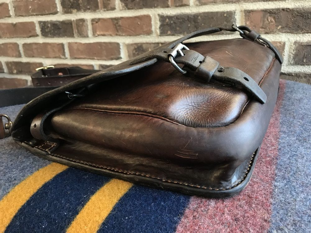 e88c64091132 VINTAGE 1930s SWISS SADDLE LEATHER MACBOOK PRO 15 BRIEFCASE MESSENGER BAG  R 1798  Unbranded